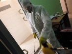 Įstaigoje pakartotinai vykdoma patalpų dezinfekcija